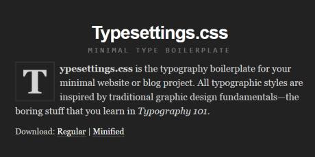 minimal typography boilerplate