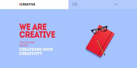 modern creative psd template