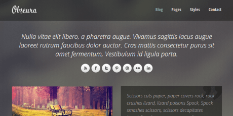 obscura free responsive html template