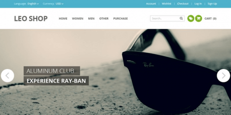 online shop psd website template