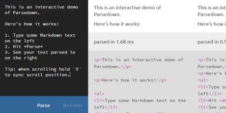 php markdown parser
