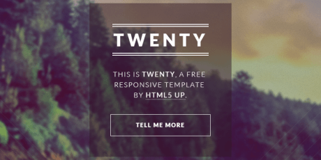 responsive startup html5 template