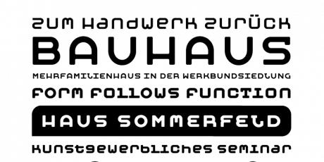 zero contrast sans serif geometric typeface