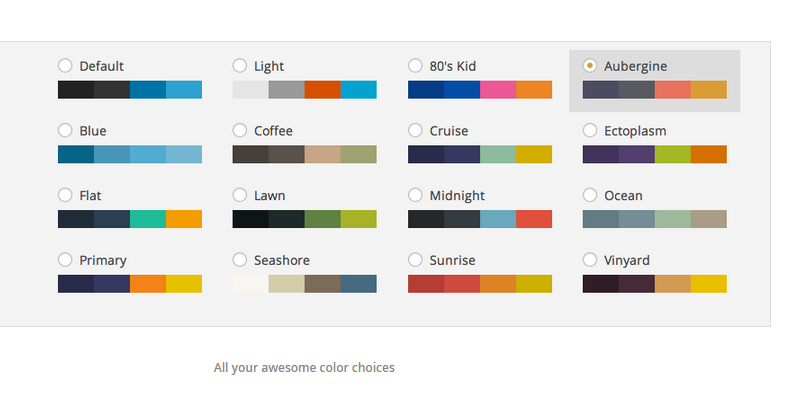 admin color schemes wordpress plugin - bypeople