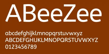 clean sans serif font