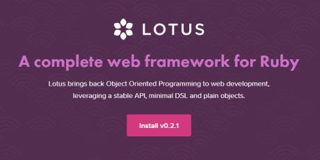 complete ruby web framework