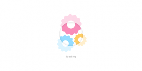 css cog loading animation
