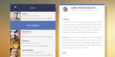 css material inbox user interface