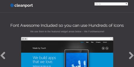 free corporate wordpress theme cleanport lite