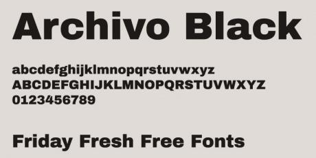 grotesque sans serif typeface family