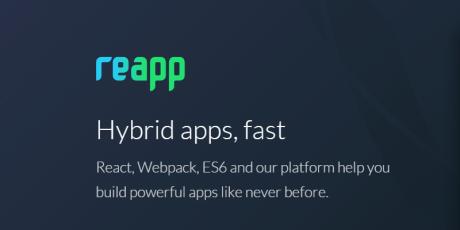 javascript mobile framework reapp