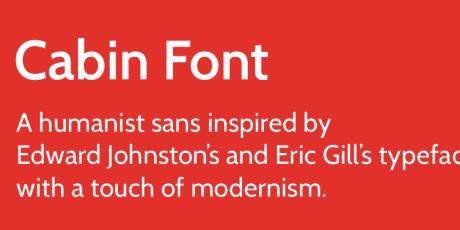 modern looking open font