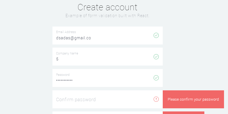 React Signup Form JS Snippet | Bypeople