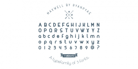 rounded edges typeface