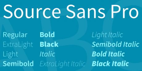 source sans pro modern font