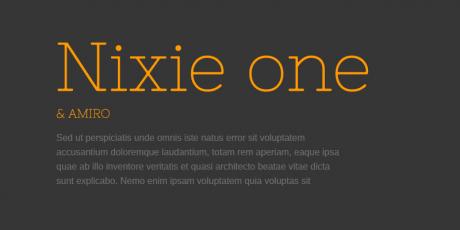 typewriter font nixie one
