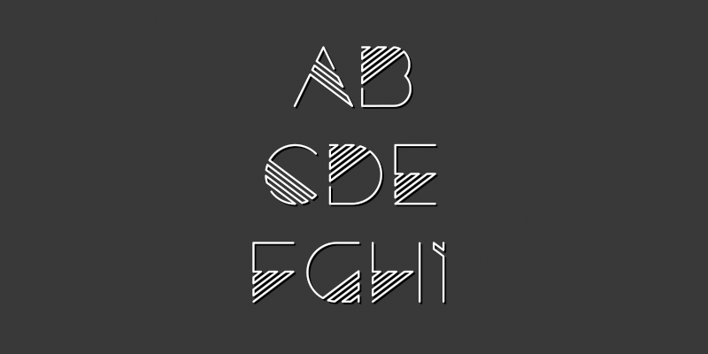 80s inspired display typeface