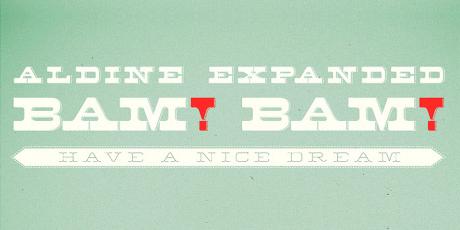 aldine expanded font