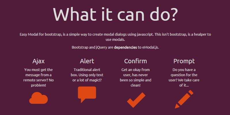 Bootstrap Easy Modal JavaScript Library