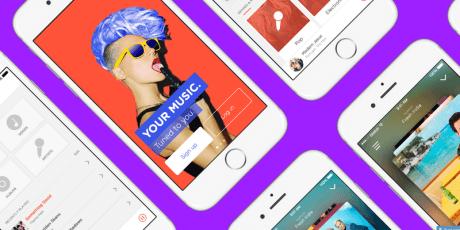 colorful sketch music app ui kit