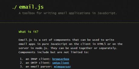 email apps javascript framework