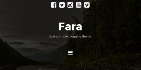 free masonry wordpress theme fara