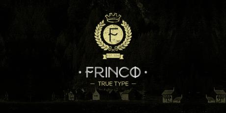 free stylish font frinco