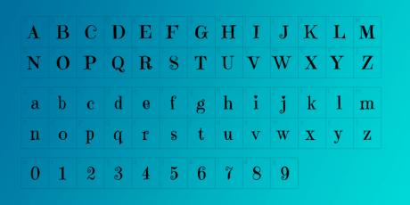 girly semi sharp typeface