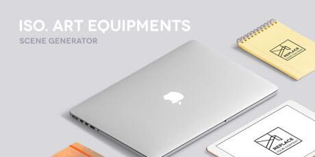 isometric art equipments scene generator