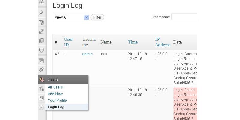 Login Tracking Log WordPress Plugin   Bypeople