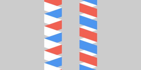 looping css3 flat ribbons