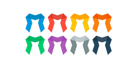m shaped css ribbons