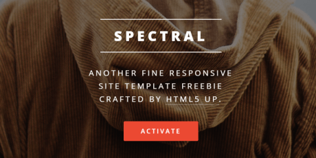 minimal responsive one page html5 template