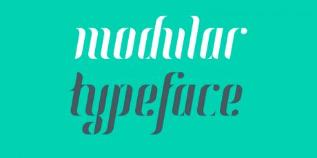 modular display font