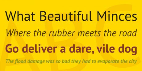 multilanguage typeface pt sans caption