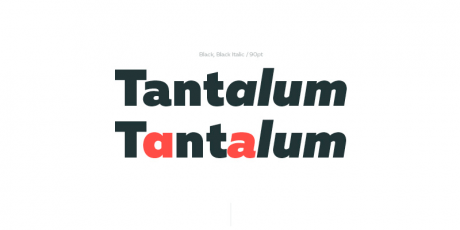 multiple weight modern typeface