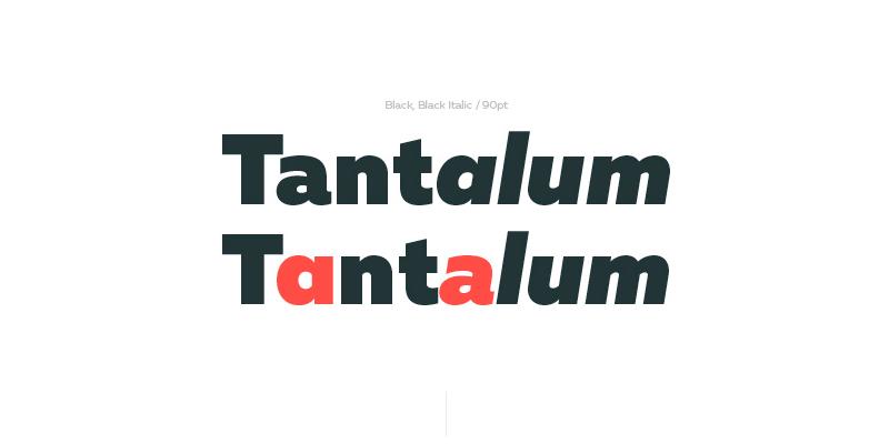 multiple weight modern typeface