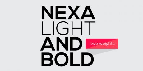 multiple weight sans serif typeface