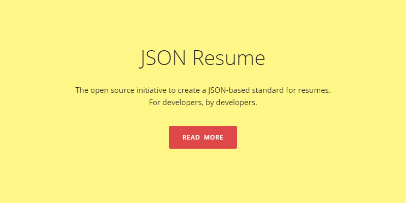 open source json resume generator bypeople