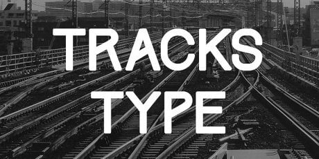 railway inspired all caps font