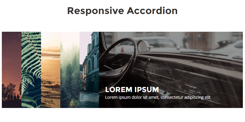 Responsive Background Images CSS Accordion