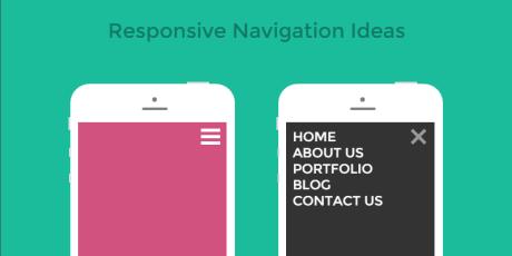 responsive css navigation menu ideas
