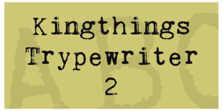 rusty typewriter font