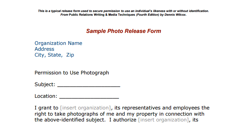 Photo Release Forms ByPeople 14 submissions – Property Release Form