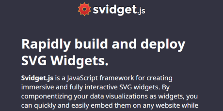 svg widgets javascript framework