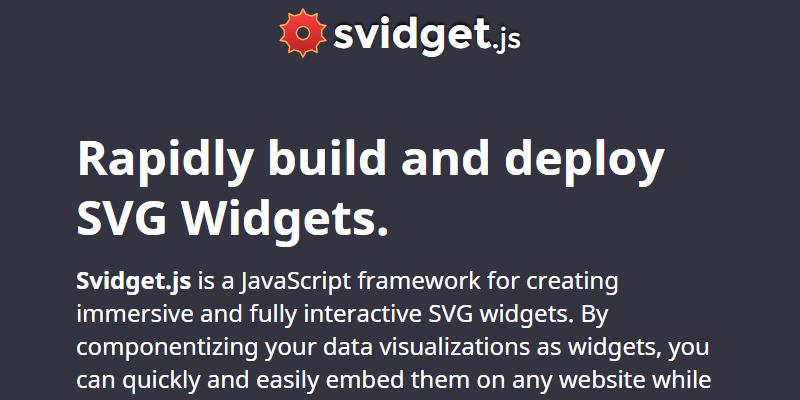 Svidget Js Svg Widgets Javascript Framework Bypeople