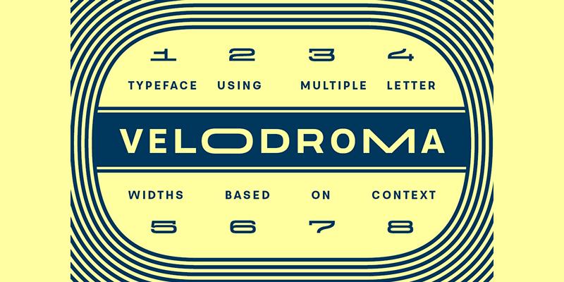 wide display sans serif typeface