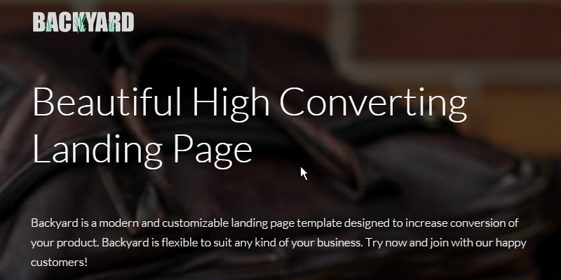 Backyard Engaging HTML Landing Page Bypeople - High converting landing page templates