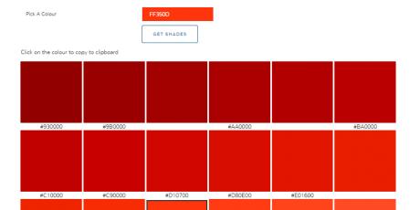 colour shades online generator