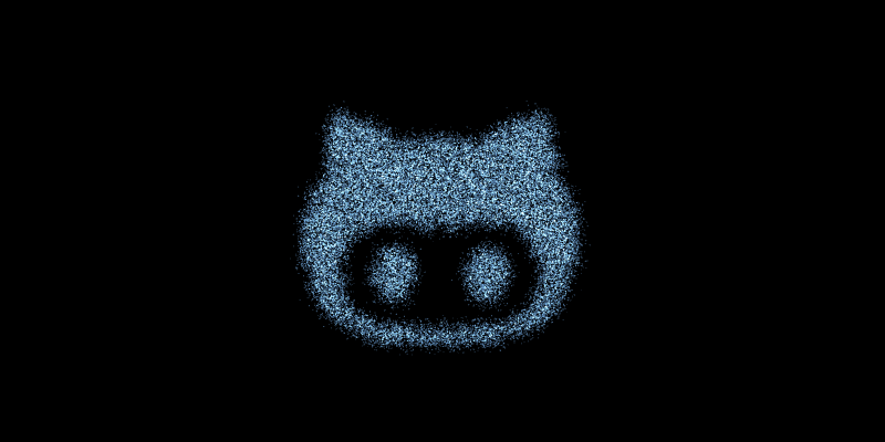 CSS and JavaScript Particle Social Icons